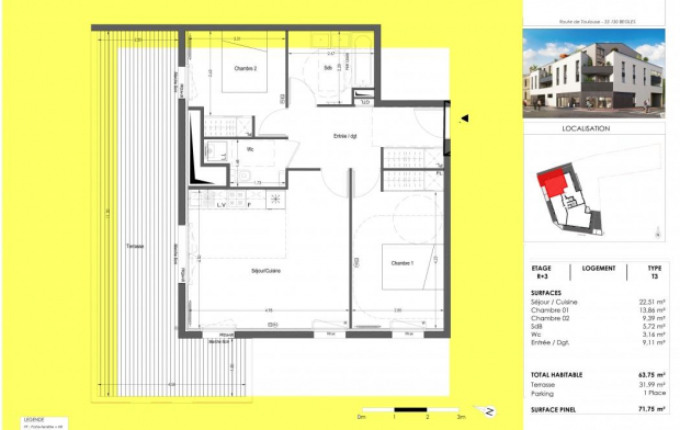 IMMOG Le Haillan Agent Immobilier : Appartement | BEGLES (33130) | 63 m2 | 328 000 €